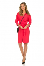D-ETOILES CASIOPE |  Wrinkle free stretch dress Rock | pink  | Picture 3