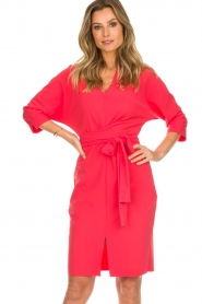 D-ETOILES CASIOPE |  Wrinkle free stretch dress Rock | pink  | Picture 2