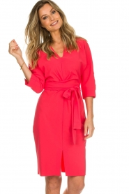 D-ETOILES CASIOPE |  Wrinkle free stretch dress Rock | pink  | Picture 4
