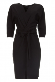 D-ETOILES CASIOPE |  Wrinkle free stretch dress Rock | black  | Picture 1
