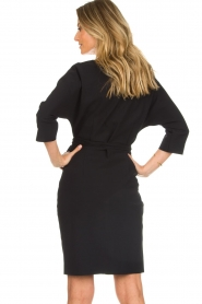 D-ETOILES CASIOPE |  Wrinkle free stretch dress Rock | black  | Picture 6