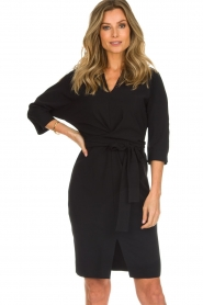 D-ETOILES CASIOPE |  Wrinkle free stretch dress Rock | black  | Picture 2