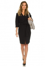 D-ETOILES CASIOPE |  Wrinkle free stretch dress Rock | black  | Picture 3