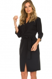 D-ETOILES CASIOPE |  Wrinkle free stretch dress Rock | black  | Picture 4