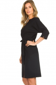 D-ETOILES CASIOPE |  Wrinkle free stretch dress Rock | black  | Picture 5