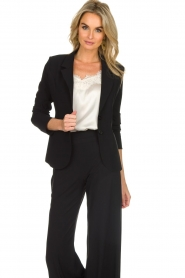 D-ETOILES CASIOPE |  Wrinkle free stretch blazer Ruby | black  | Picture 2