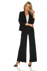 D-ETOILES CASIOPE |  Wrinkle free stretch blazer Ruby | black  | Picture 3