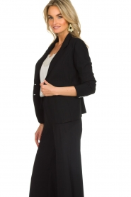 D-ETOILES CASIOPE |  Wrinkle free stretch blazer Ruby | black  | Picture 4