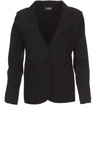 D-ETOILES CASIOPE |  Wrinkle free stretch blazer Ruby | black  | Picture 1