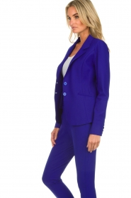 D-ETOILES CASIOPE |  Wrinkle free stretch blazer Ruby | purple  | Picture 5