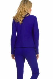 D-ETOILES CASIOPE |  Wrinkle free stretch blazer Ruby | purple  | Picture 6