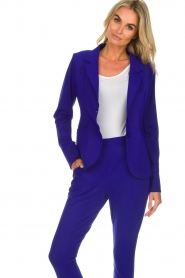D-ETOILES CASIOPE |  Wrinkle free stretch blazer Ruby | purple  | Picture 2