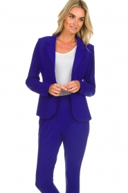 D-ETOILES CASIOPE |  Wrinkle free stretch blazer Ruby | purple  | Picture 4