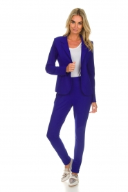 D-ETOILES CASIOPE |  Wrinkle free stretch blazer Ruby | purple  | Picture 3