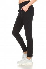 D-ETOILES CASIOPE |  Wrinkle free stretch trousers Rover | black  | Picture 4