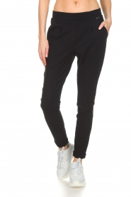 D-ETOILES CASIOPE |  Wrinkle free stretch trousers Rover | black  | Picture 3