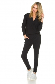 D-ETOILES CASIOPE |  Wrinkle free stretch trousers Rover | black  | Picture 2