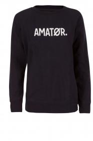 Amatør | Logo sweater Amator | donkerblauw  | Afbeelding 1