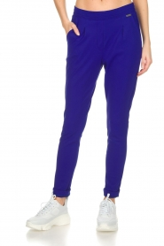 D-ETOILES CASIOPE |  Wrinkle free stretch trousers Rover | purple  | Picture 3