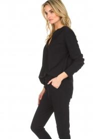 D-ETOILES CASIOPE |  Wrinkle free stretch top Regine | black  | Picture 5