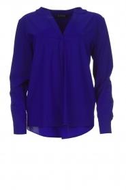 D-ETOILES CASIOPE |  Wrinkle free stretch top Regine | purple  | Picture 1