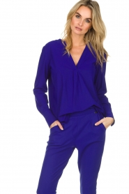 D-ETOILES CASIOPE |  Wrinkle free stretch top Regine | purple  | Picture 4