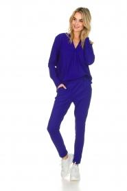 D-ETOILES CASIOPE |  Wrinkle free stretch top Regine | purple  | Picture 3