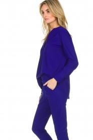 D-ETOILES CASIOPE |  Wrinkle free stretch top Regine | purple  | Picture 5