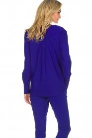D-ETOILES CASIOPE |  Wrinkle free stretch top Regine | purple  | Picture 6