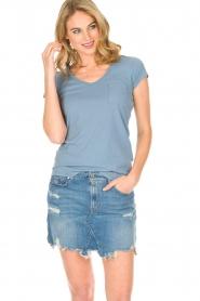 Hunkydory | T-shirt Elaisy | blauw  | Afbeelding 2