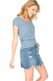 Hunkydory | T-shirt Elaisy | blauw  | Afbeelding 3