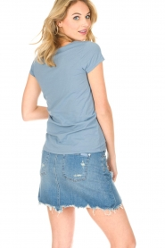 Hunkydory | T-shirt Elaisy | blauw  | Afbeelding 4