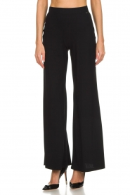 D-ETOILES CASIOPE |  Wrinkle free flare trousers Regarder | black  | Picture 2