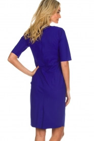 D-ETOILES CASIOPE |  Wrinkle free stretch dress Robby | purple  | Picture 6