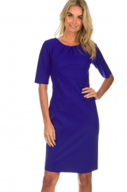 D-ETOILES CASIOPE |  Wrinkle free stretch dress Robby | purple  | Picture 2