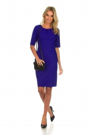 D-ETOILES CASIOPE |  Wrinkle free stretch dress Robby | purple  | Picture 3