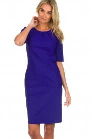 D-ETOILES CASIOPE |  Wrinkle free stretch dress Robby | purple  | Picture 4