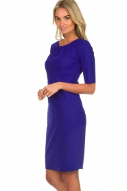D-ETOILES CASIOPE |  Wrinkle free stretch dress Robby | purple  | Picture 5