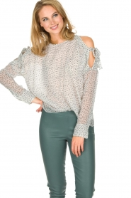 Hunkydory |  Top with star print | white  | Picture 4