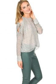 Hunkydory |  Top with star print | white  | Picture 5