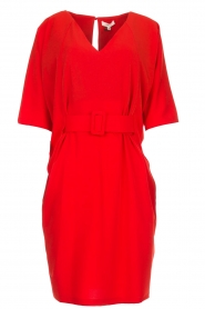 Kocca |  Dress with butterfly sleeves Cuban | red  | Picture 1
