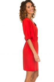 Kocca |  Dress with butterfly sleeves Cuban | red  | Picture 4
