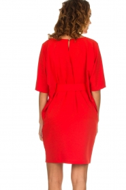 Kocca |  Dress with butterfly sleeves Cuban | red  | Picture 5