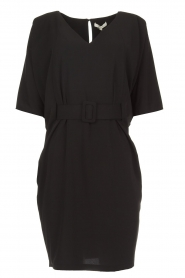 Kocca |  Dress with butterfly sleeves Cuban | black  | Picture 1