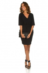 Kocca |  Dress with butterfly sleeves Cuban | black  | Picture 3