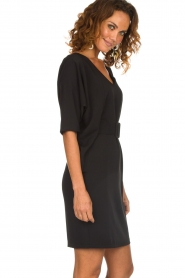 Kocca |  Dress with butterfly sleeves Cuban | black  | Picture 5