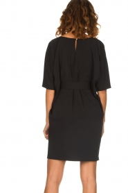 Kocca |  Dress with butterfly sleeves Cuban | black  | Picture 6