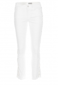 Hunkydory |  Cropped jeans with lace-up sides Harley | white  | Picture 1