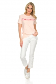 Hunkydory |  Cropped jeans with lace-up sides Harley | white  | Picture 2