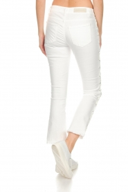 Hunkydory |  Cropped jeans with lace-up sides Harley | white  | Picture 6